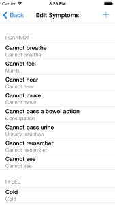 Edit Symptoms