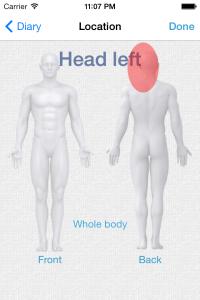 Symptom location page